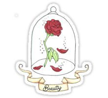 High quality Beauty And The Beast gifts and merchandise. Inspired designs on t-shirts, posters, stickers, home decor, and more by independent artists and designers from around the world. Stickers Cool, Tumblr Stickers, Printable Stickers, Planner Stickers, Wallpaper Rose, Beast Wallpaper, Beauty And The Beast Drawing, Disney Beauty And The Beast, Roses Tumblr