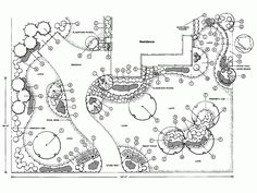HOW TO DRAW LANDSCAPE DESIGN PLOT PLANS