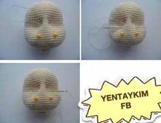 Cómo hacer rasgos en la cara amigurumi 3