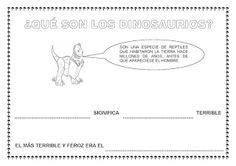 """RECURSOS PARA EDUCACIÓN INFANTIL: FICHAS PROYECTO """"LOS DINOSAURIOS"""""""