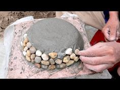- Mixers Construction - Construction - Building DIY Stone And Cement - How To Make Beautiful Pots From Cement And Stone - DIY Construction Diy Concrete Planters, Cement Art, Stone Planters, Concrete Crafts, Concrete Garden, Garden Crafts, Diy Garden Decor, Cement Flower Pots, Handmade Home Decor
