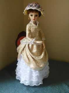 Ellowyne Wilde Outfit ~ SILK & LACE VICTORIAN ENSEMBLE WITH WIG AND SHOES by pollyswardrobe4dolls via eBay SOLD 5/10/14  $316.94