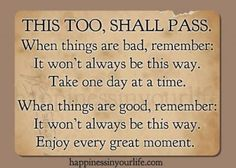 Depression, This too shall pass and Life quotes on Pinterest