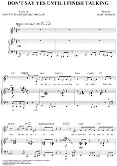 Don't Say Yes Until I Finish Talking Sheet Music: www.onlinesheetmusic.com