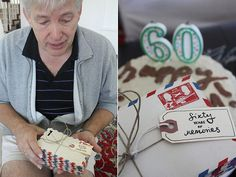 Sixty Years Of Memories...omg I want to do this for my Dad's 70th!!!