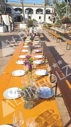 Mesas de alquiler para catering Alpinholz