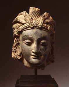Head for Gandhara, maybe a bodhisattva