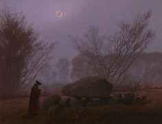 A Walk at Dusk Caspar David Friedrich German, about 1830 - 1835 Oil on canvas 13 1/8 x 17 3/16 in.