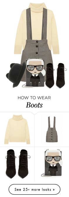 """Untitled #593"" by orrinn on Polyvore featuring ADAM, Yves Saint Laurent and Karl Lagerfeld"