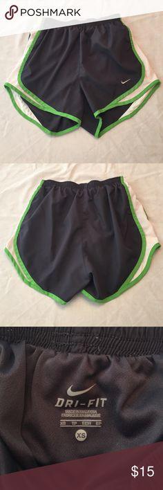 Nike dri fit shorts Nike dri fit shorts. Elastic waist (no drawstring). Briefs attached. Size XS. Nike Shorts