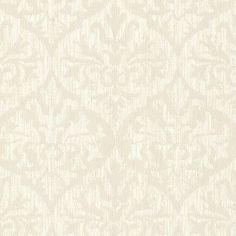 "Brewster Home Fashions Sparkle Sumatra 33' x 20.5"" Damask 3D Embossed Wallpaper Color: Champagne"