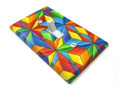 Rainbow Kaleidoscope Light Switch Cover Modern by ModernSwitch, $6.00