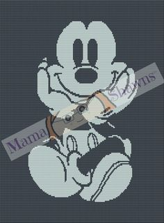 Mickey Mouse Inspired - Graphghan, Crochet Pattern, Mickey, Mouse, Cartoon, Animated by MamaShawns on Etsy
