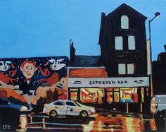 This  Lovely Ugly Town, Swansea, South Wales. Oil Painting.