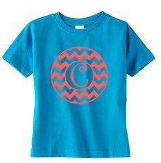 Chevron Monogram Toddler TShirt Girls Initial by VinylDezignz, $15.95