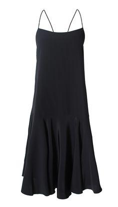 Tibi - Silk Tie-Back Cami Dress