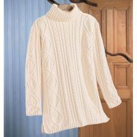 Cable Connection Turtleneck Tunic