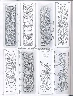 ru / Photo # 36 - Shtolman + sketches + for + carving + stamping + leather - vihrova Leather Carving, Leather Art, Custom Leather, Leather Tooling, Leather Jewelry, Handmade Leather, Wood Carving Patterns, Wood Carving Art, Carving Designs