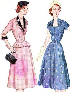 1950s Dress and Jacket Pattern Simplicity 8461 by paneenjerez, $30.00