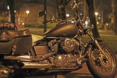 Grand tourer - bike in the sleek silver sunset #motorcycletour