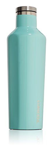 Corkcicle Canteen - Water Bottle and Thermos - Keeps Beverages Cold for Over 25, Hot for Over 12 Hours - Triple Insulated with Shatterproof Stainless Steel Construction - Turquoise - 16 oz. -- You can get additional details at the image link.
