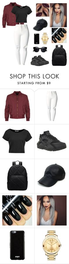"""""""Untitled #461"""" by aysuyucel ❤ liked on Polyvore featuring WearAll, (+) PEOPLE, Pierre Balmain, NIKE, Vianel, Givenchy and Movado"""