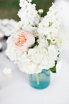 garden roses and hydrangeas, photo credit: Preferred Planning