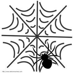 Spider in Web Pattern - Free Halloween Pumpkin Carving Patterns - Dot Com Women Pumpkin Face Templates, Pumpkin Template, Pumpkin Carving Patterns, Halloween Templates, Halloween Patterns, Halloween Spider, Halloween Pumpkins, Paw Patrol Birthday Cake, Web Patterns