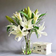 Shop over 100 beautiful artificial flower arrangements. Made by hand in the UK. Artificial Flower Arrangements, Artificial Silk Flowers, Orchids, Glass Vase, Lily, Casablanca, Luxury, Crafts, Home Decor