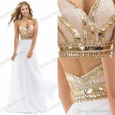 2014 Best Selling Prom Dresses With Sweetheart Sequins Beads Shining Backless A Line Floor Length Chiffon White Pageant Evening Party Gowns from Honeywedding,$125.66 | DHgate.com