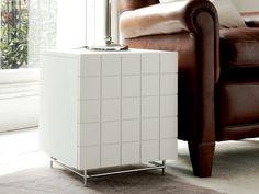 GillmoreSPACE   Modern Designer Bedside Chest - Barcelona White