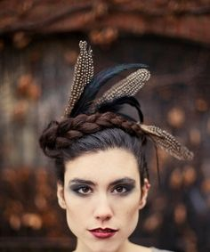 Crown of Love VI  Black feathered headpiece  captured by Minxshop, $45.00