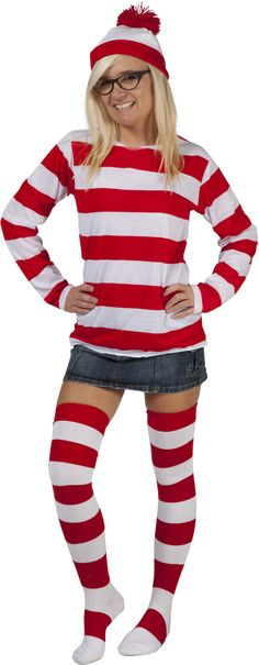 Where's Waldo / Wenda Halloween Party Costume