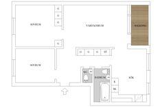 Planlösning Uppsala, Floor Plans, Floor Plan Drawing