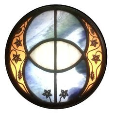 Stained Glass Vesica Pisces - Beautiful. chalice well