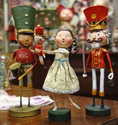 Lori Mitchell's new Nutcracker Suite figures, which includes Drummer Boy, Clar with Nutcracker and Nutcracker King! So Sweet!