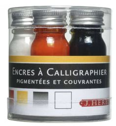 J. Herbin Calligraphy Ink Set by ArcaneObjects on Etsy