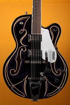 Gretsch Electromatic Hot Rod Walt #36 G5120T Hollow Body Electric Guitar - Black with Custom Pinstripes and Case
