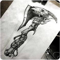 Drow New Beautiful Tattoo Design👌👍 Artist . Tag your friends 🙏 If You Want Support Us Share My Post In Your Story ❤ . For Share… Sketch Tattoo Design, Skull Tattoo Design, Viking Tattoo Design, Viking Tattoos, Skull Tattoos, Tattoo Sketches, Hand Tattoos, Tattoo Drawings, Body Art Tattoos