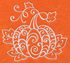 Whitework Pumpkin design (M9123) from www.Emblibrary.com