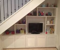 Resultado de imagen para tv under stairs