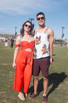 On the grounds of Coachella.