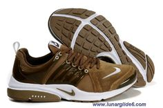 Mens Nike Air Presto Brown White Shoes Sale
