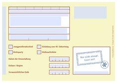Vorlagenfelder: Markierte Felder können personalisiert werden