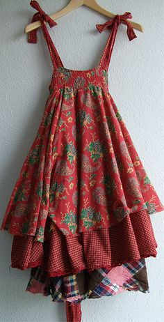 Sundresses in boho style. Discussion on LiveInternet - Russian Service Online Diaries Diy Clothing, Sewing Clothes, Dress Sewing, Hippie Stil, Mori Fashion, Mode Boho, Altered Couture, Mode Outfits, Refashion