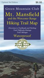 New!!  Updated and revised 3nd Edition of our full-color waterproof map of the many trails on Mount Mansfield, Vermont's highest peak. This edition includes the Long Trail relocation through Smugglers Notch.  Also included are the hiking trails of the beautiful Worcester Range, including Stowe Pinnacle and Mt. Hunger, directions to trailheads, and trail difficulty ratings.   #map  #hiking