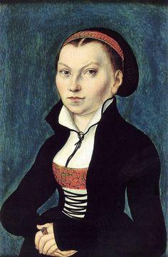 Cranach, Lucas d. Ä. - Katharina von Bora, Wife of Martin Luther. 1526 Sammlungen auf der Wartburg