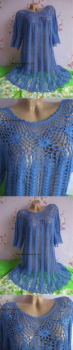 Туника -платье, вязание крючком: Дневник группы 'Вязание' - Страна Мам