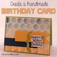 Create a Handmade Birthday Card|I love this card! I want to make it for my sister for her Birthday