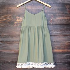 hunter green boho dress from shophearts. Little Dresses, Day Dresses, Cute Dresses, Boho Outfits, Cute Outfits, Fashion Outfits, Bohemian Dresses, Boho Chic, Bohemian Style